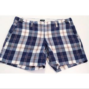 J. Crew city fit plaid shorts, size 6, style 92187